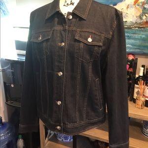 Like NEW Chaps Dark Denim Jacket